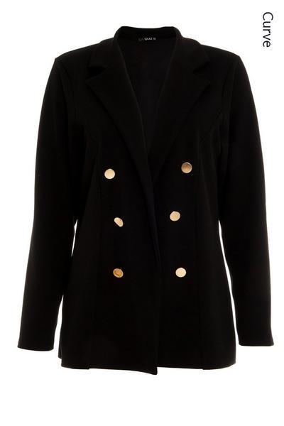 Curve Black Military Jacket